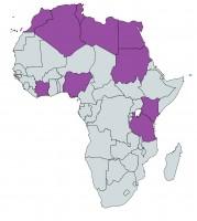УниПОС държави в Африка